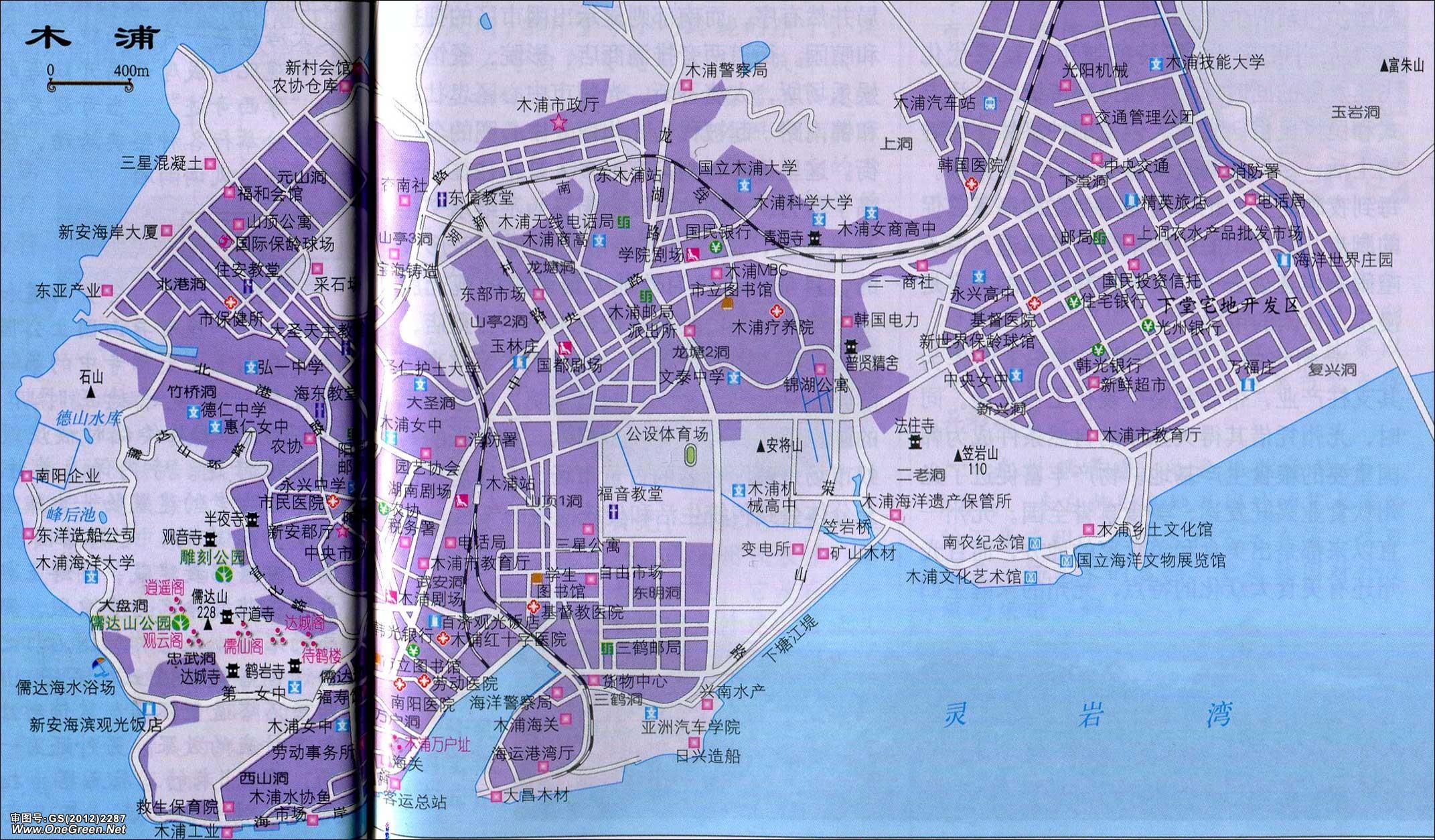 韩国木浦市地图