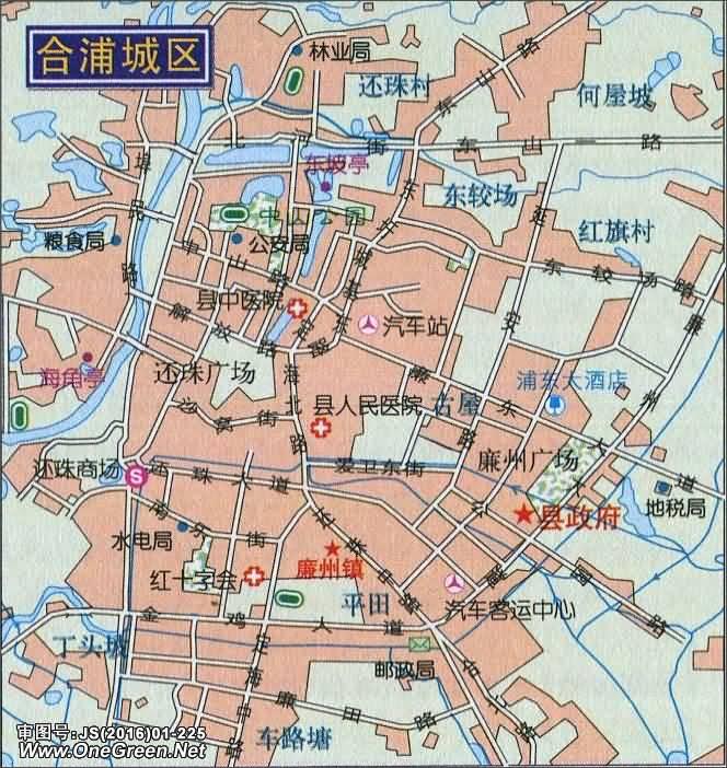 合浦城区地图
