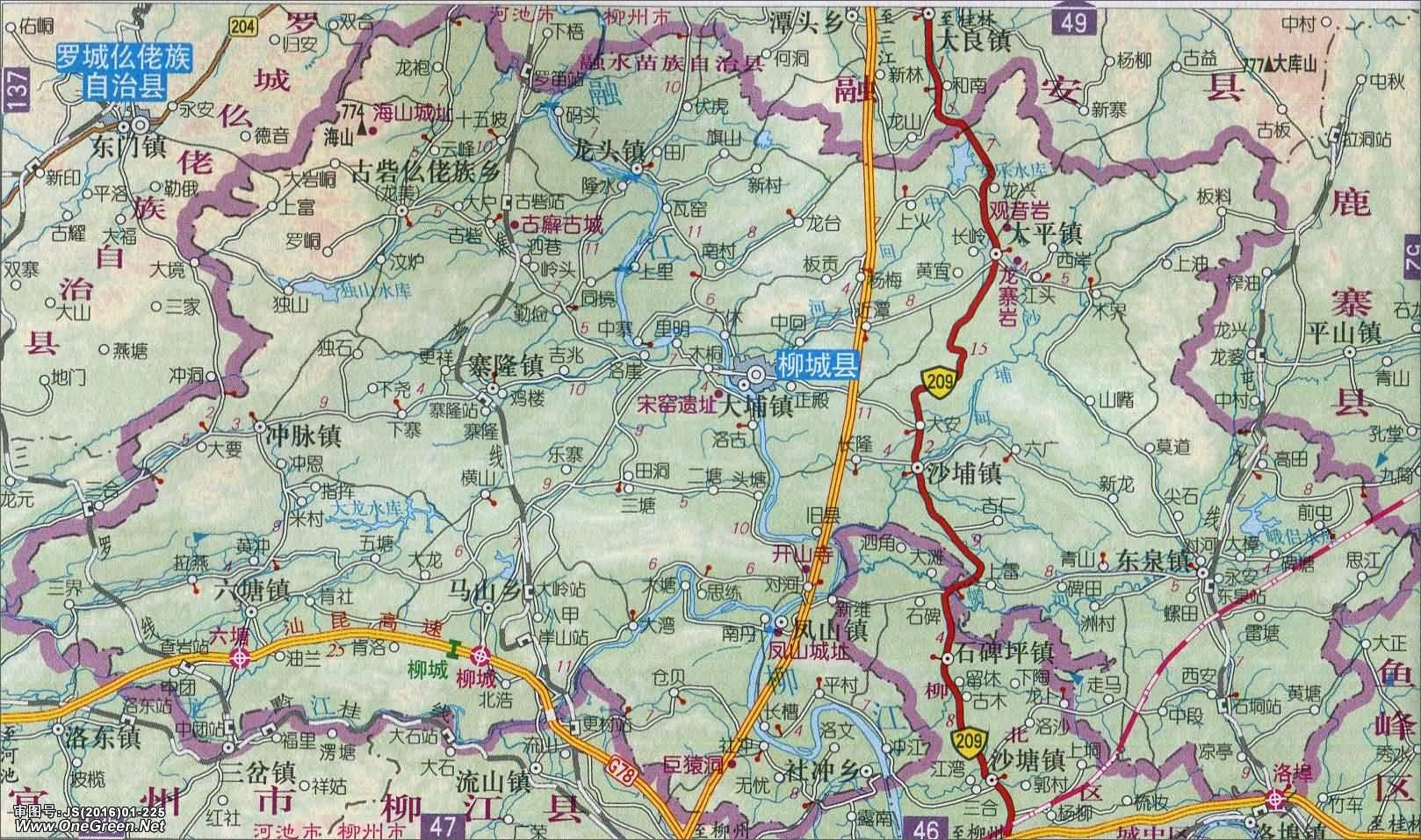 柳城县地图
