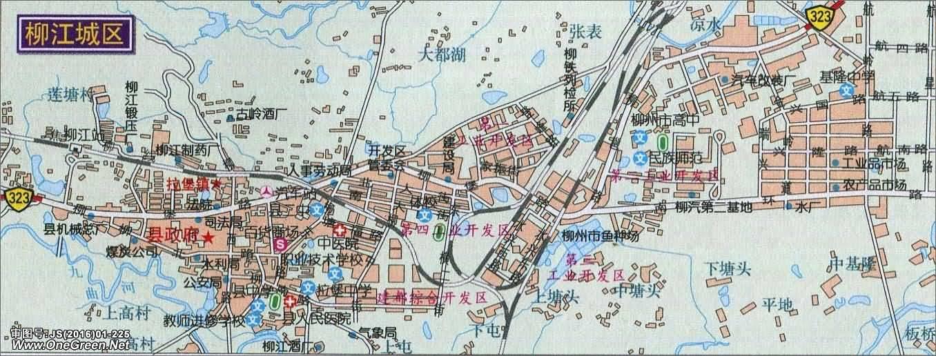 柳江城区地图