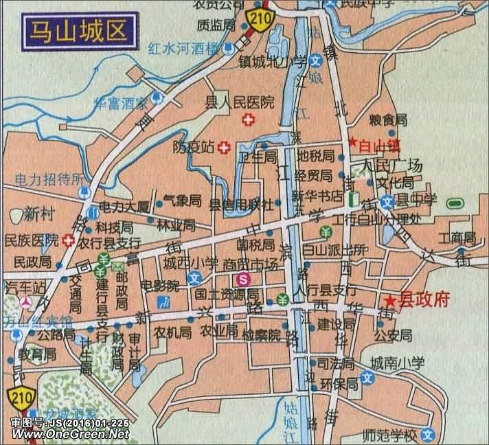 马山城区地图