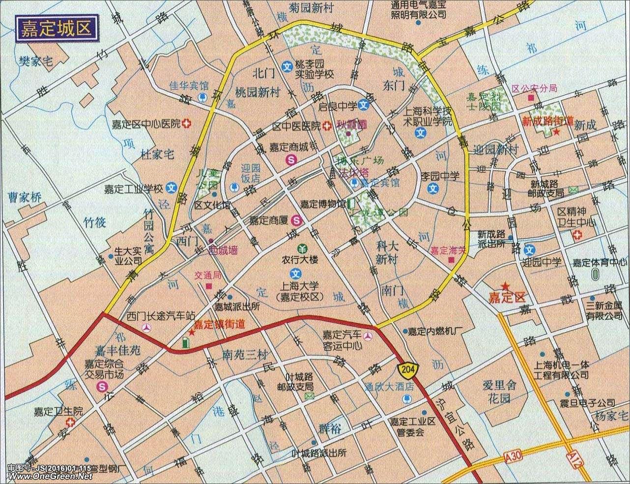 嘉定城区地图