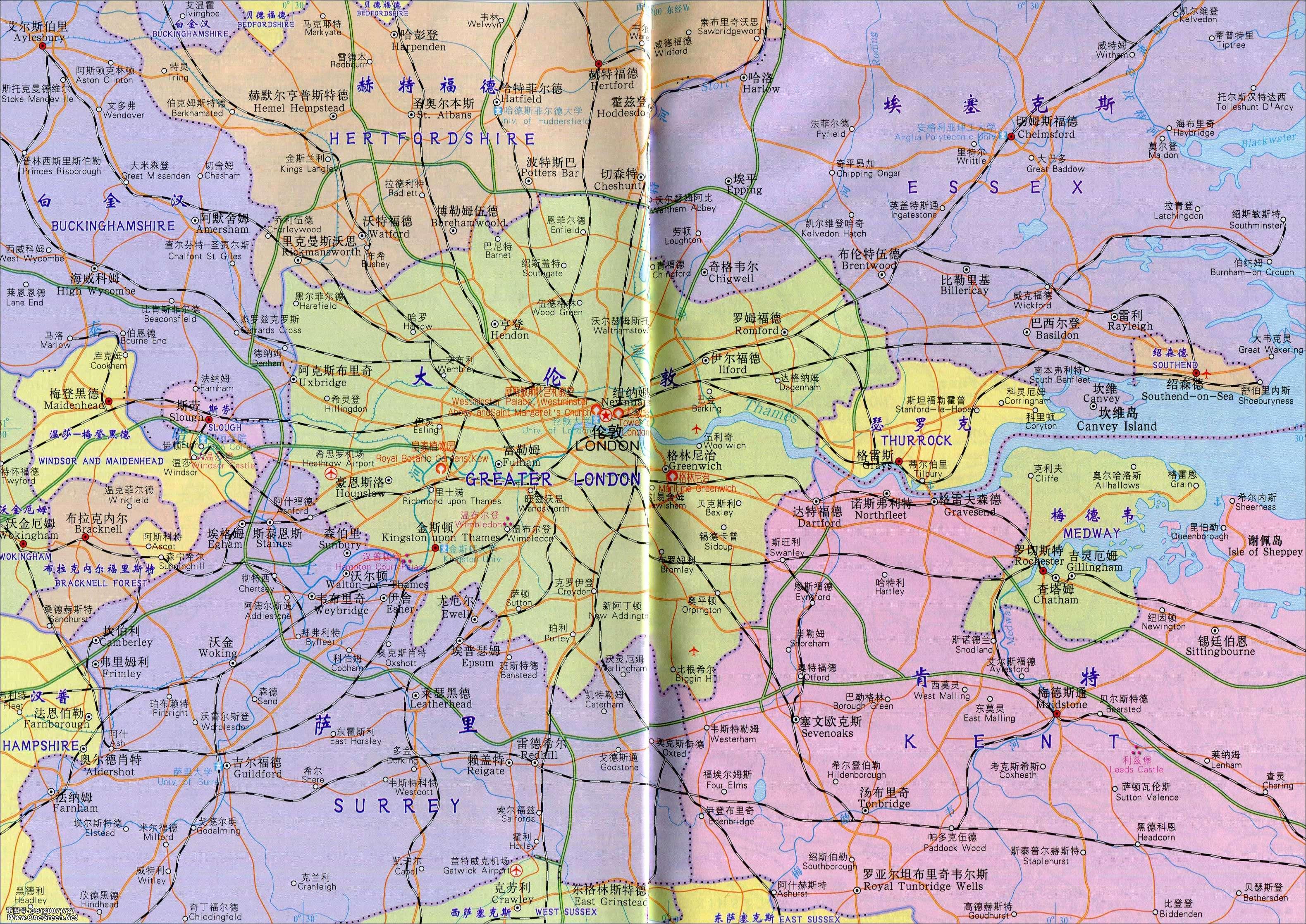 利物浦_曼彻斯特地区地图