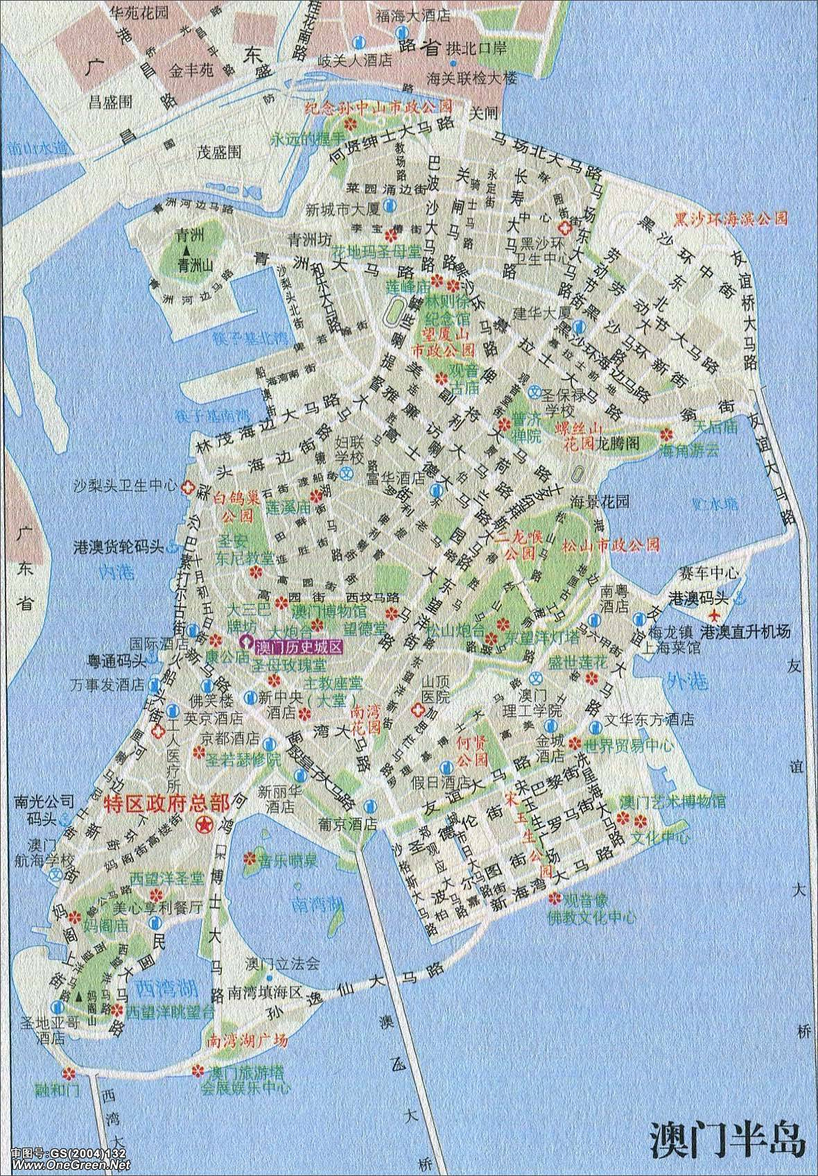 澳门半岛市区地图