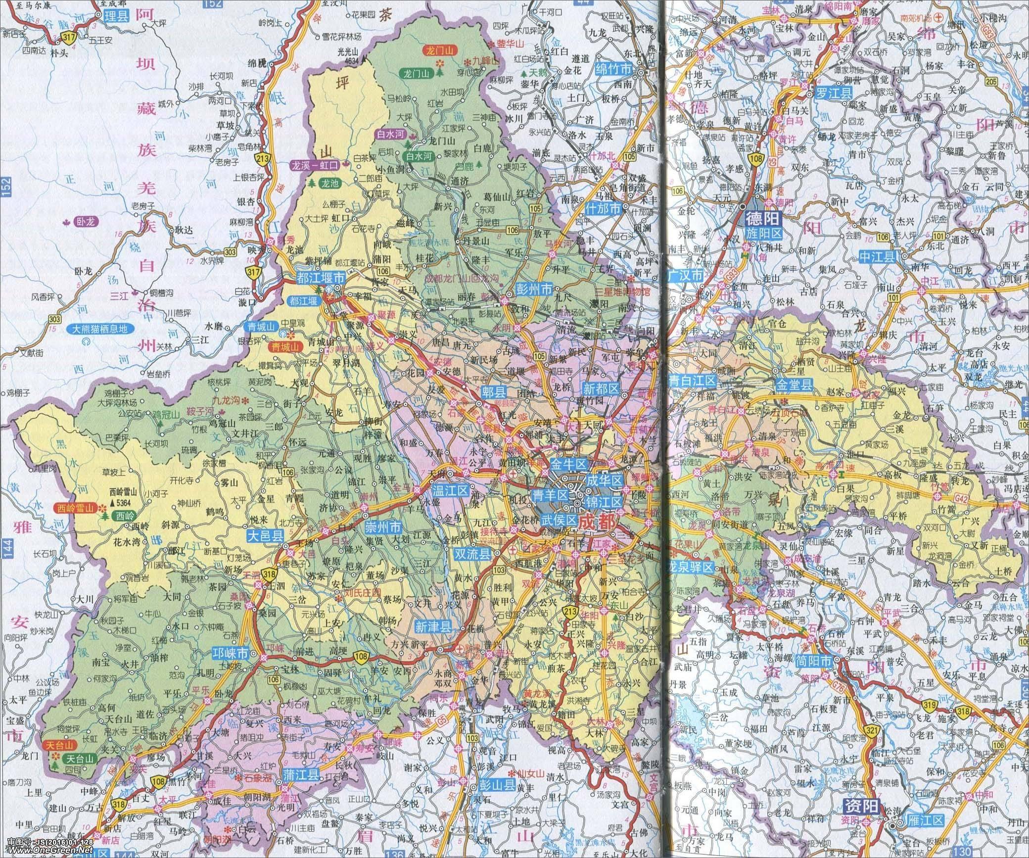 成都市地图_成都市地图高清版_成都地图库_地图窝