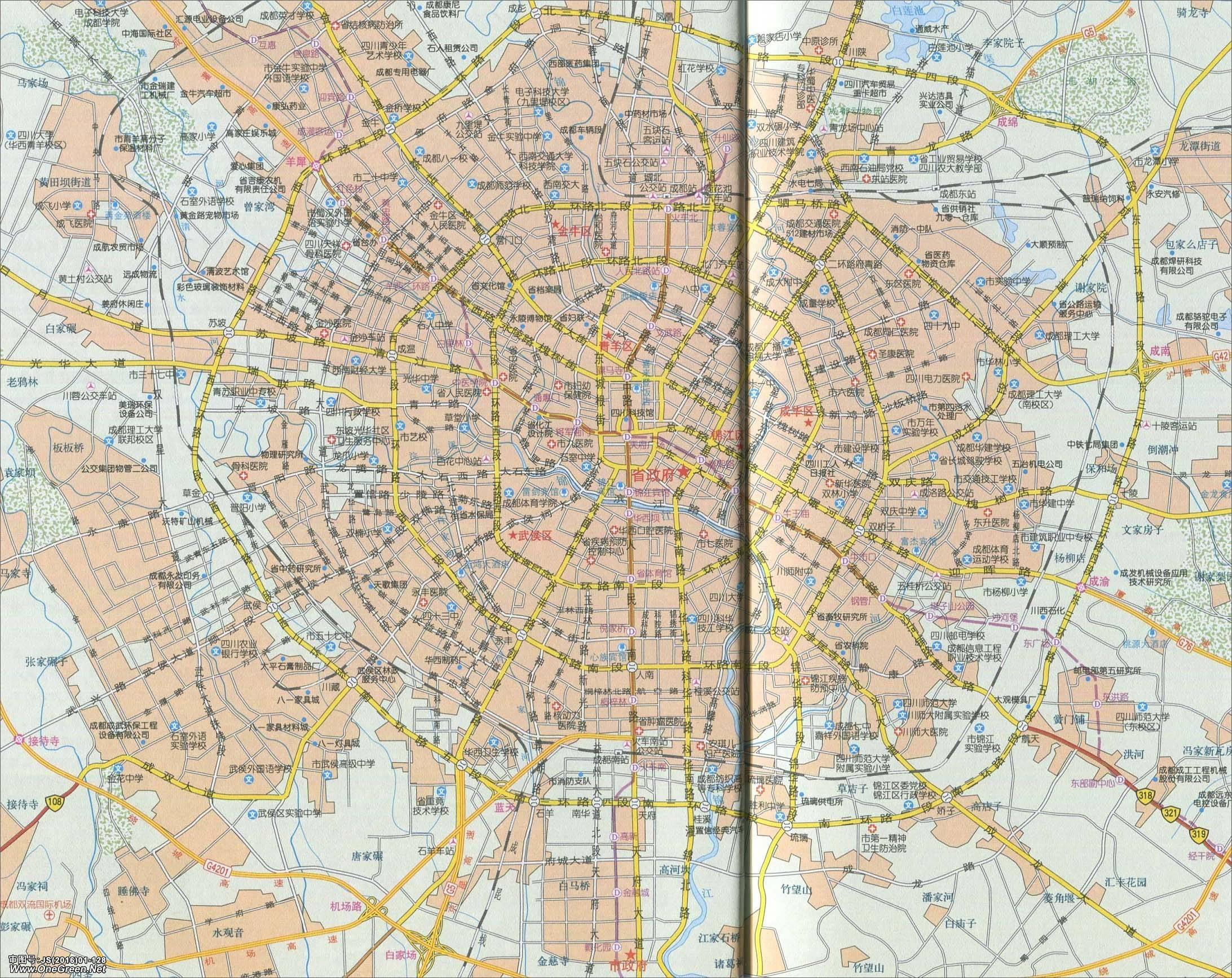 成都市地图_成都城区地图_成都地图库_地图窝