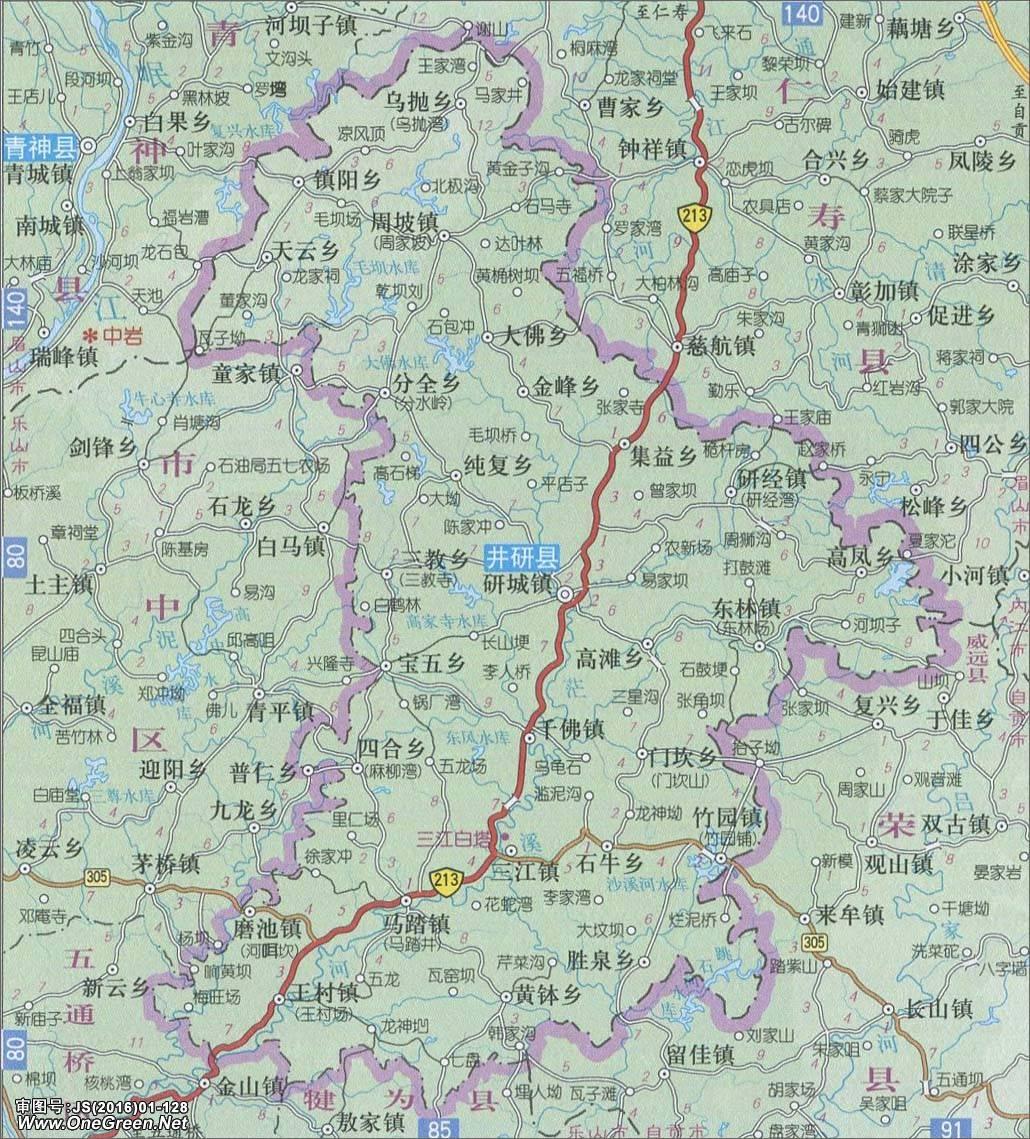 井研县地图_乐山地图库