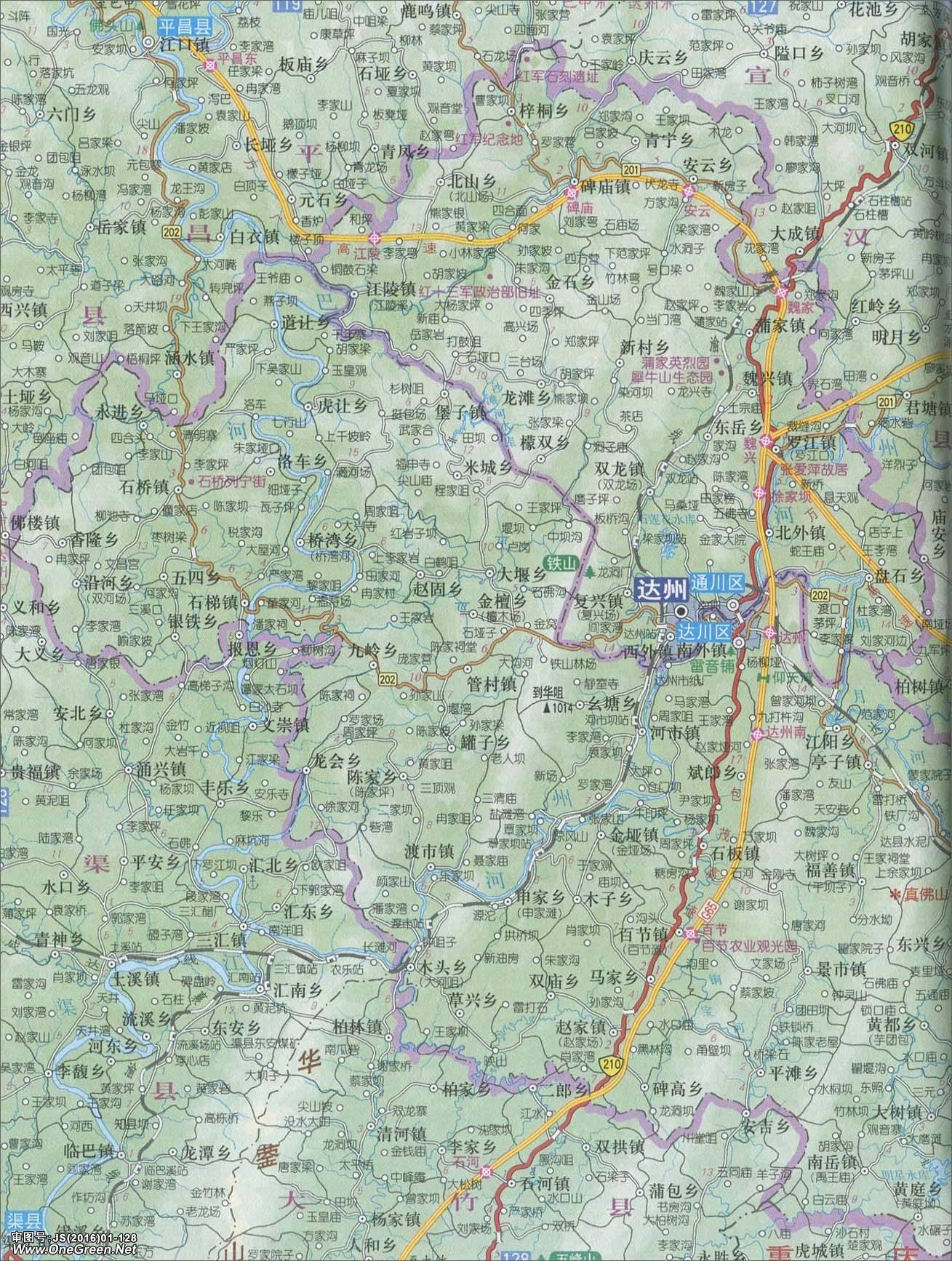 通川区 达川区地图