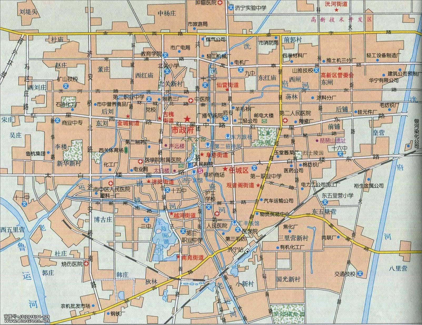 地图库 中国地图 山东 济南 >> 济南市城区地图