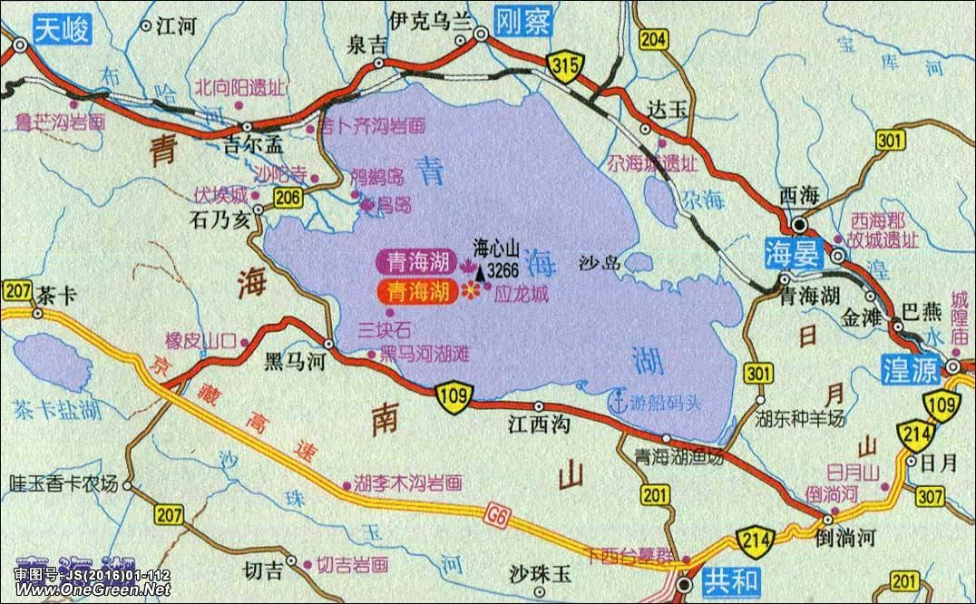 地图库 中国地图 青海 海北 >> 青海湖地图  栏目导航:西宁  海东
