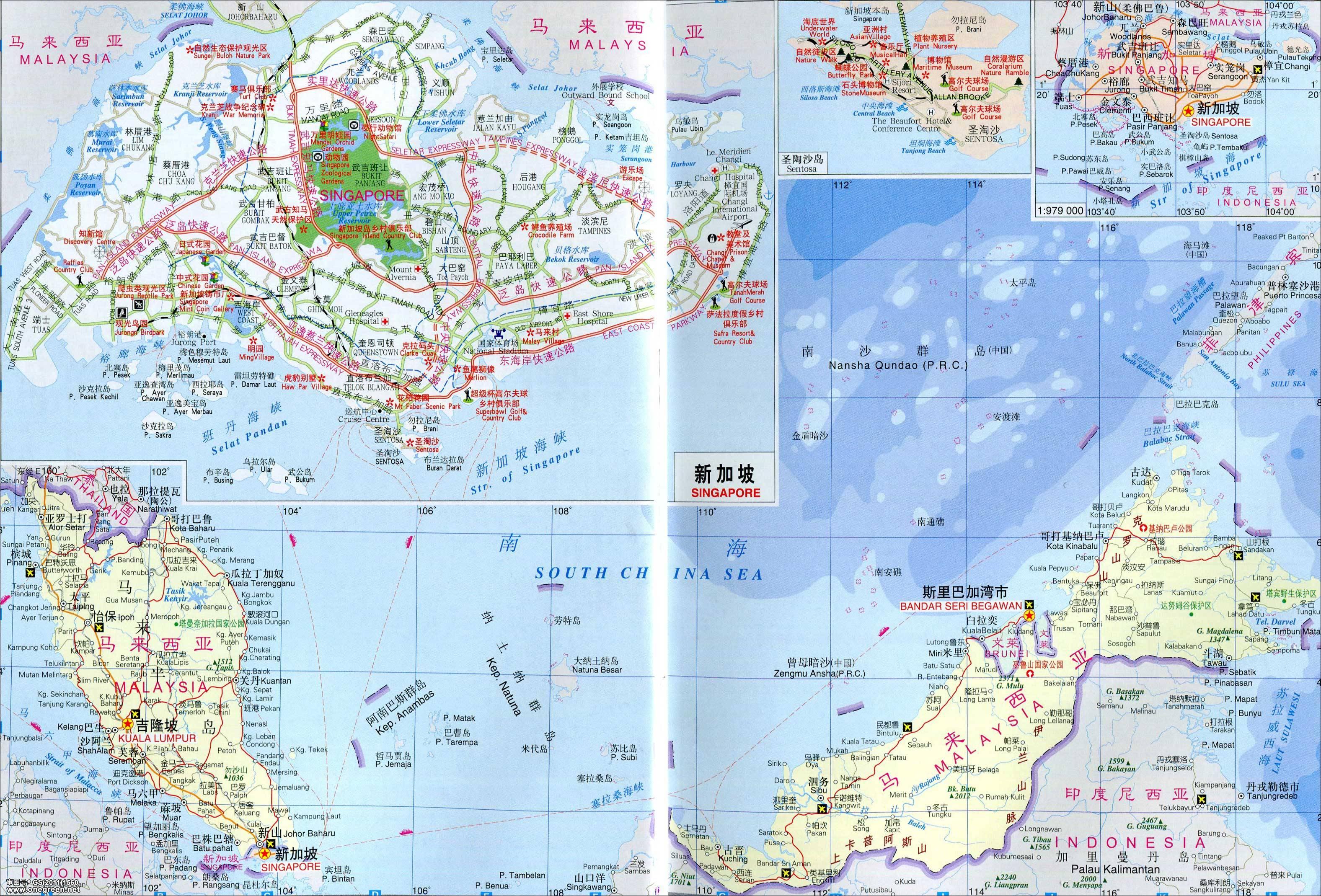 黎巴嫩地图_新加坡地图中(英)文版_新加坡地图库_地图窝