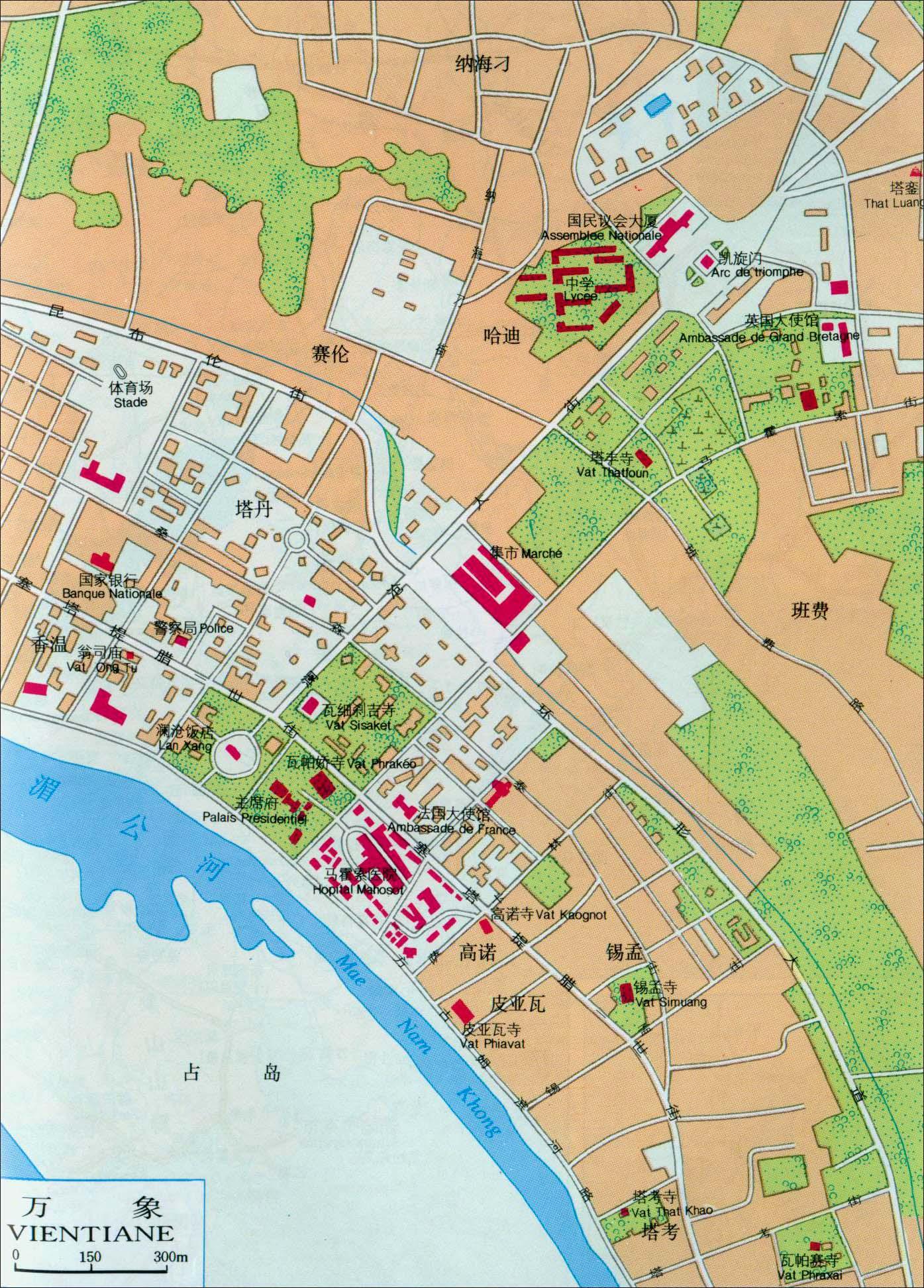 老挝首都万象地图