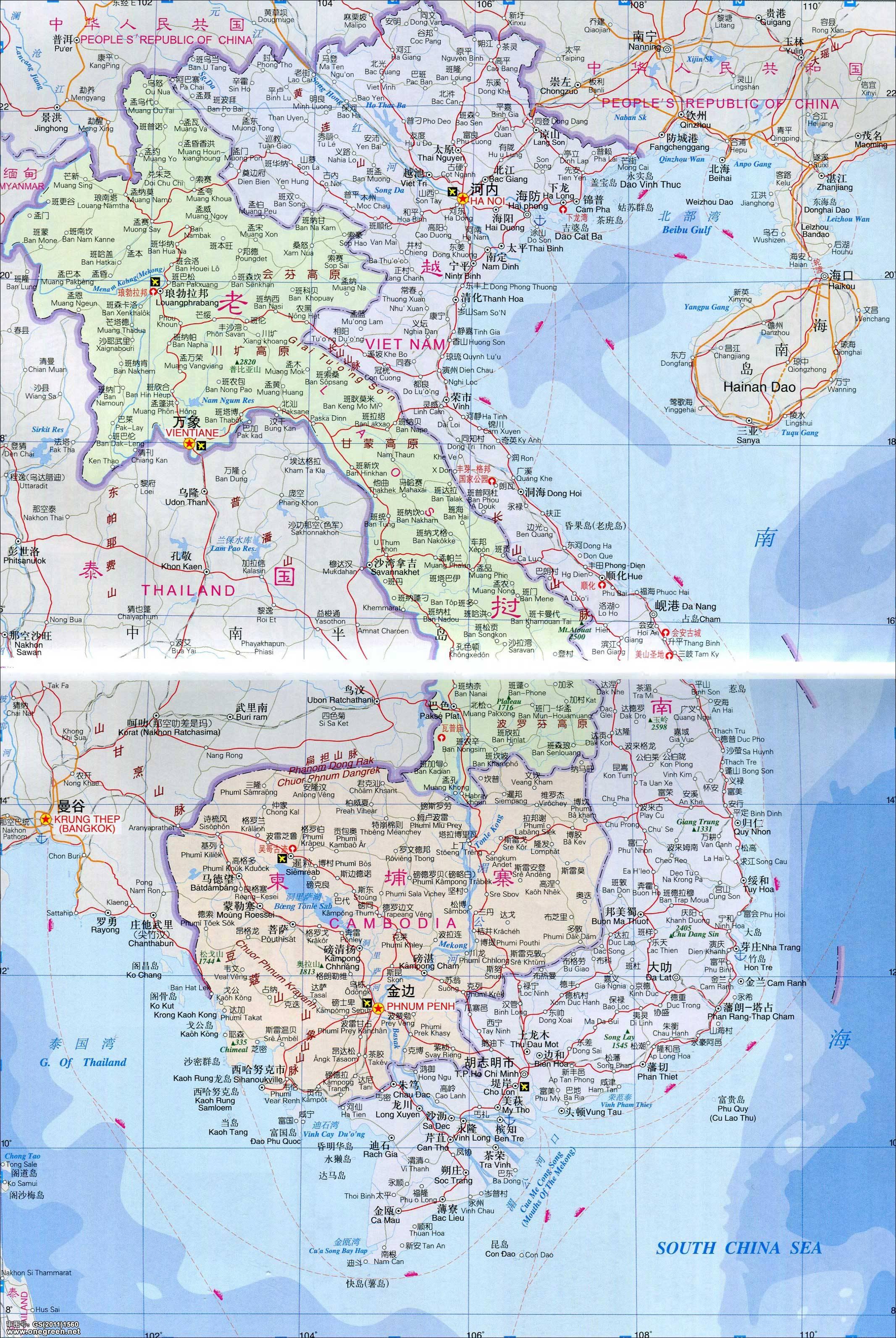 地图库 世界地图 亚洲 柬埔寨 >> 柬埔寨地图