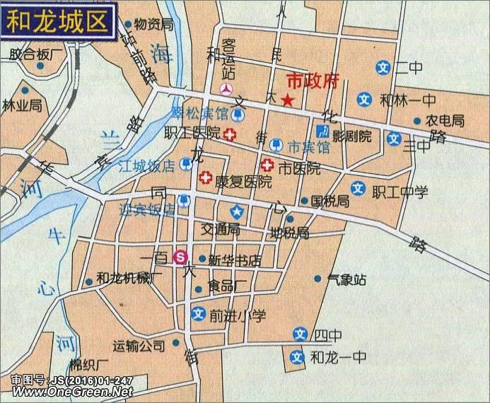 和龙市城区地图