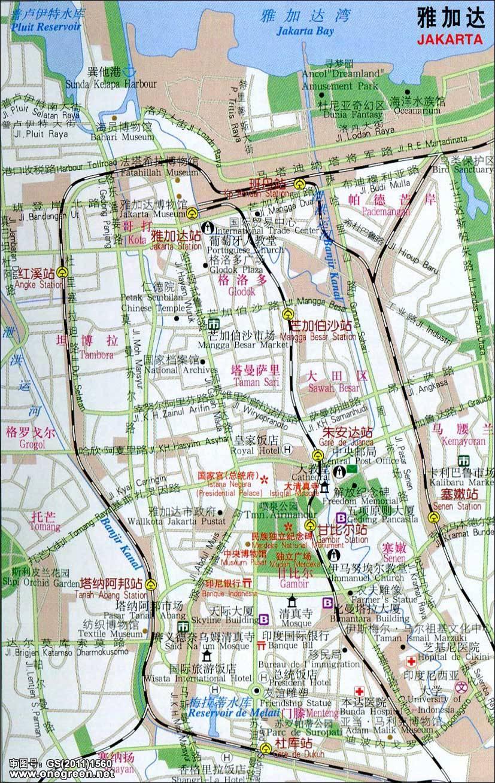 印尼雅加达地图_印尼雅加达地图_印度尼西亚地图库_地图窝