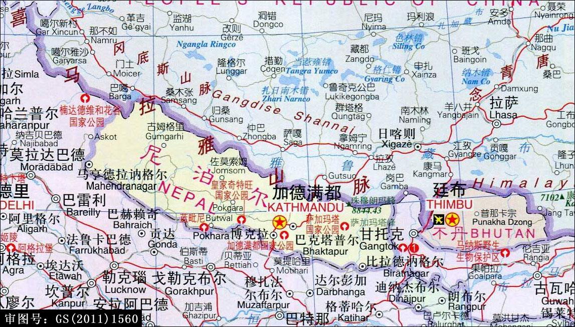 尼泊尔地图_尼泊尔中(英)文地图_尼泊尔地图库_地图窝