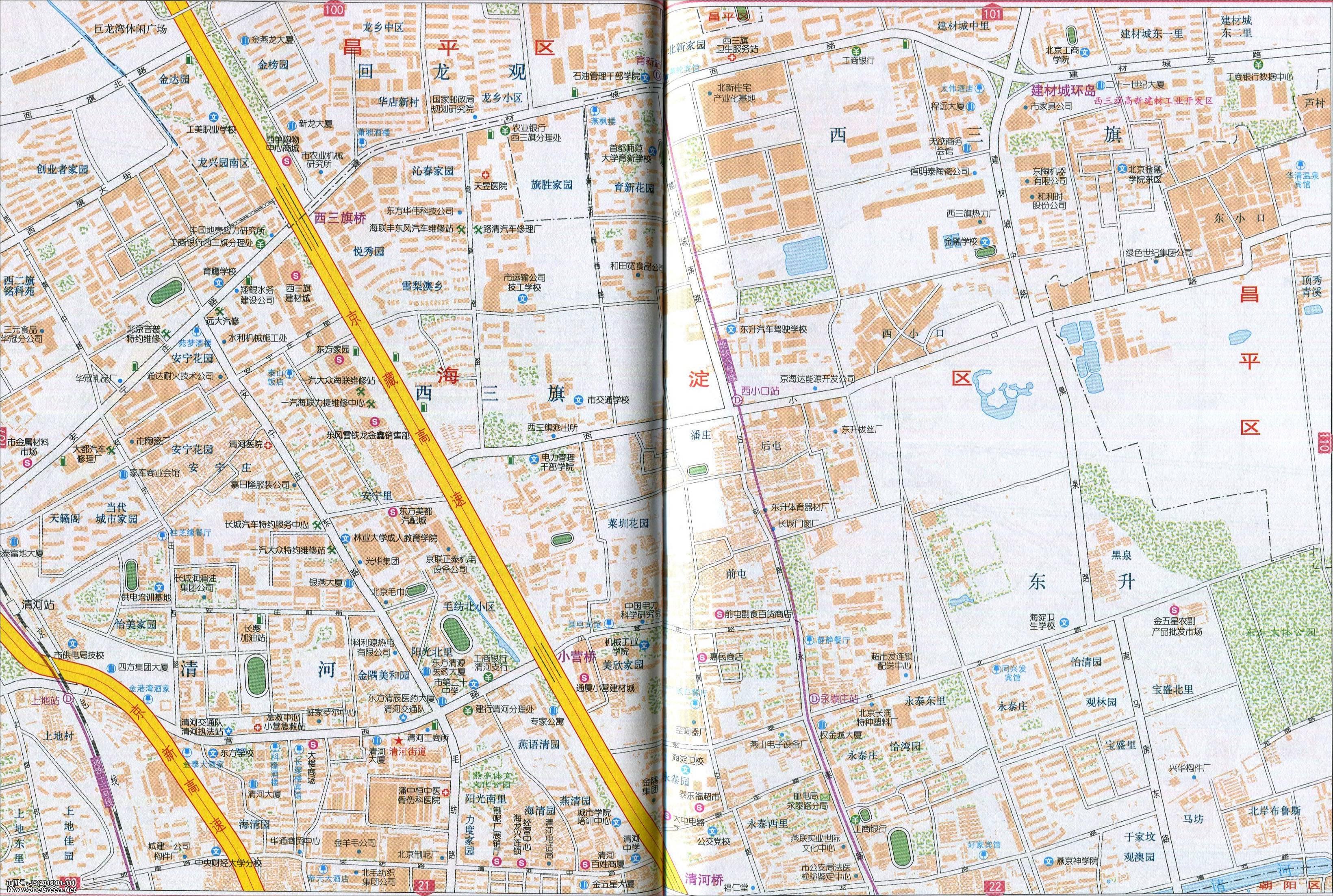 北京西三旗地图