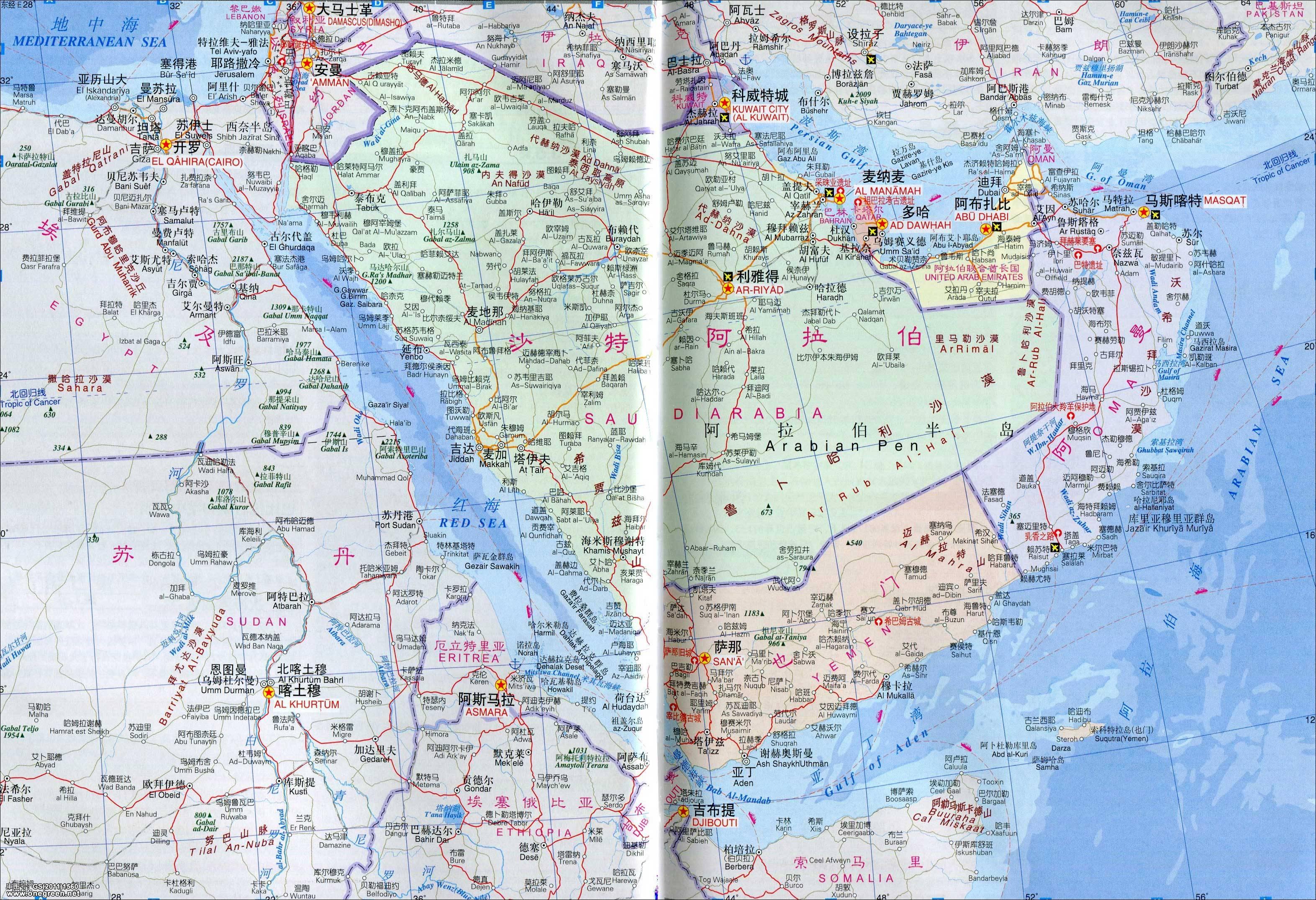 土耳其地图中文版_阿联酋地图(中英文版)_阿联酋地图库_地图窝