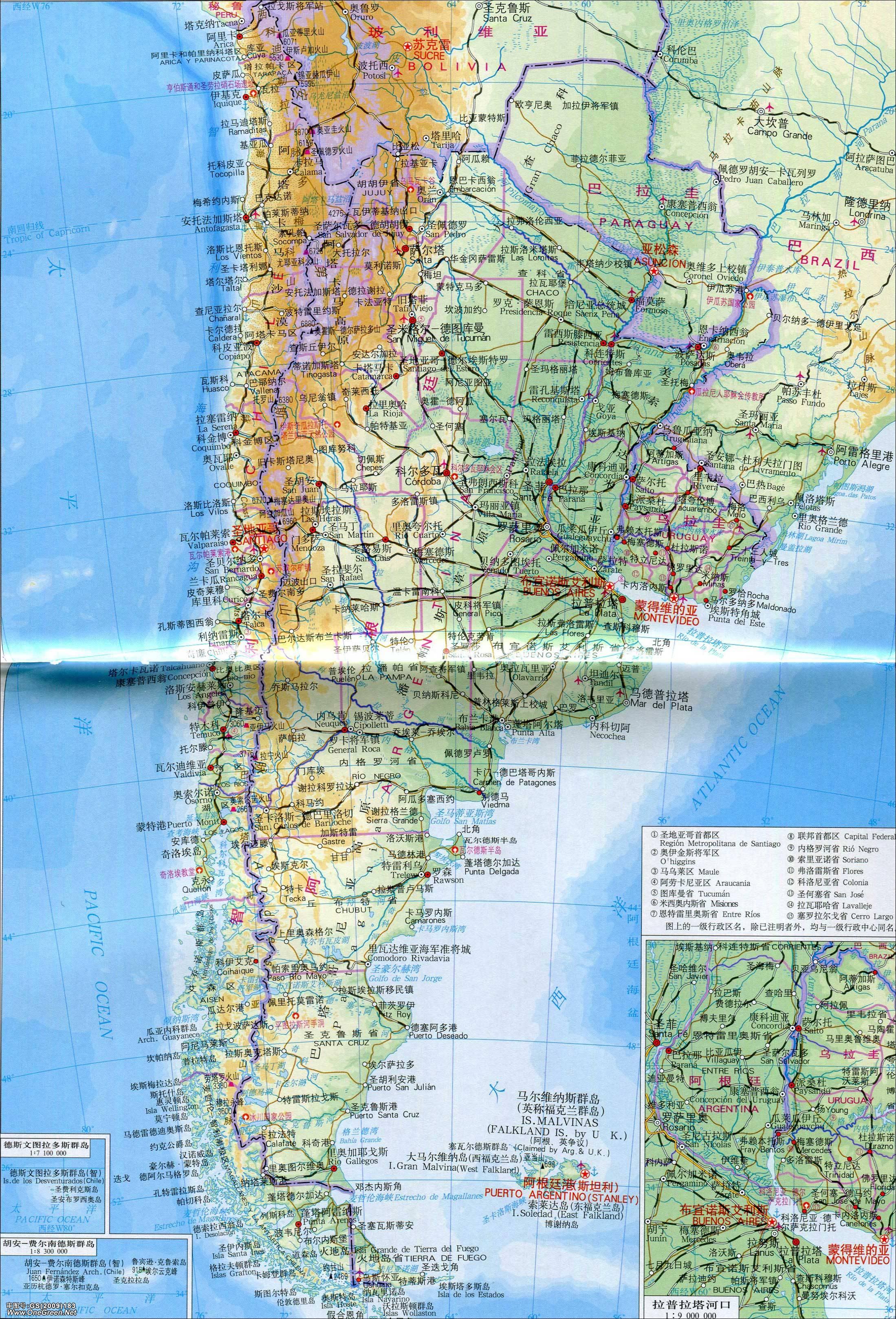 巴拉圭历史地图_乌拉圭地形图_乌拉圭地图库_地图窝