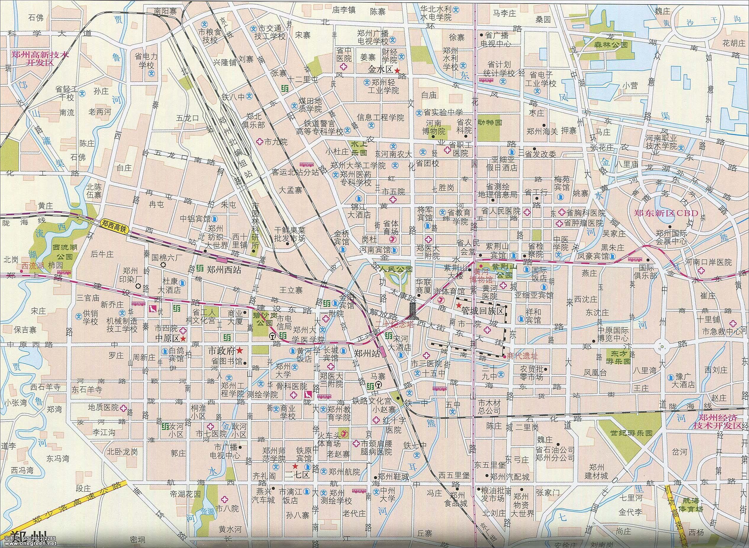 郑州地图地形版