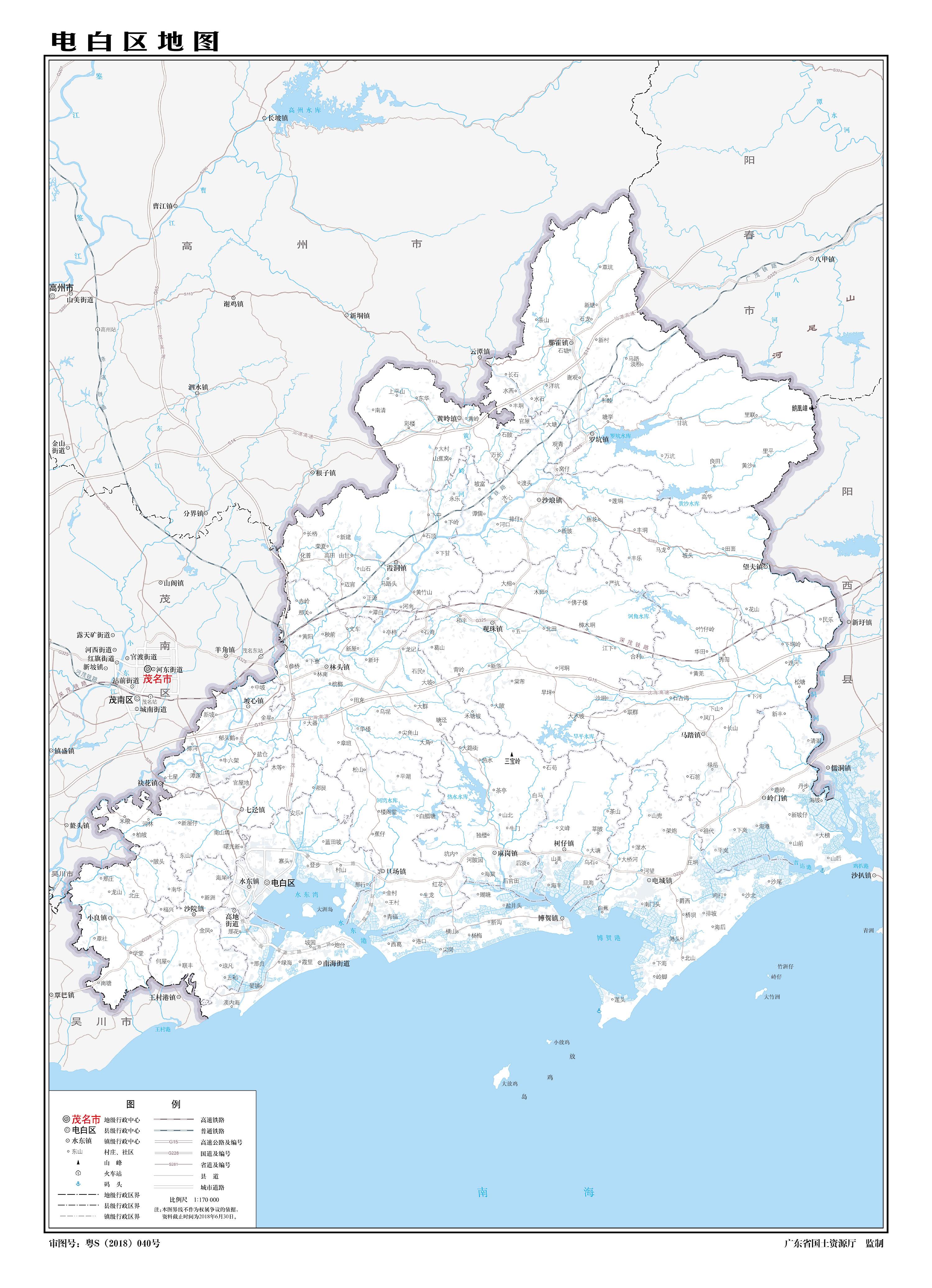茂名市电白区人均gdp_茂名 GDP总量最大的是电白区,不得不承认事实