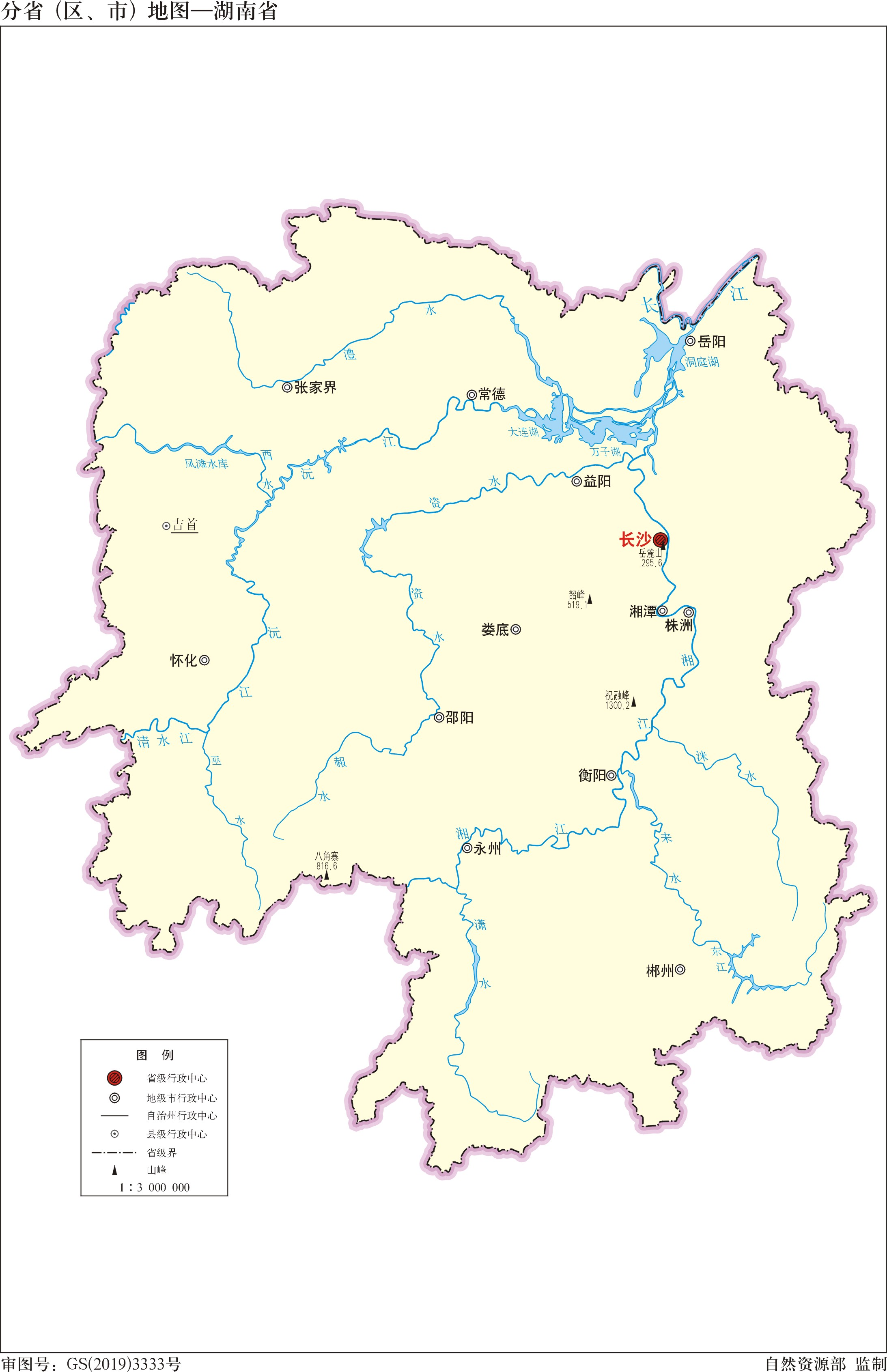 贵州省政区图_湖南省标准地图(边界版)_湖南地图库_地图窝