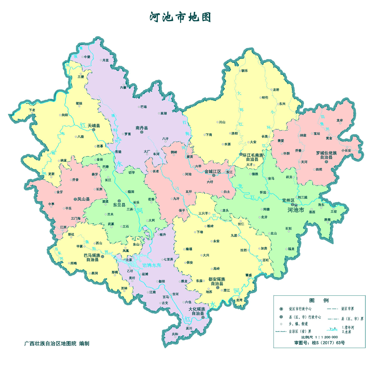 广西防城港旅游地图_河池市标准地图(政区版)_河池地图库_地图窝