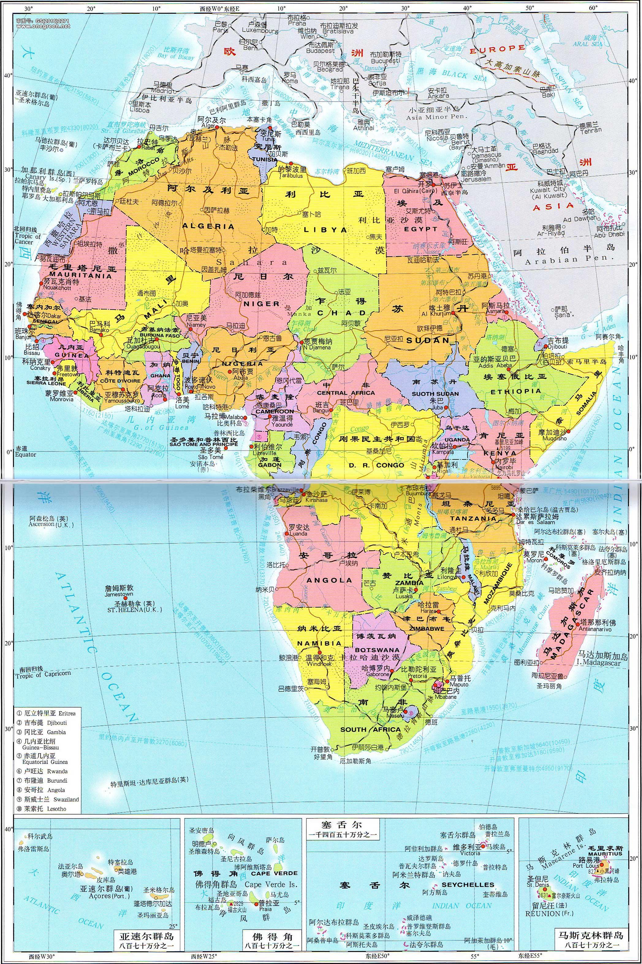 博茨瓦纳地图_非洲地图_非洲地图高清版大图_地图窝