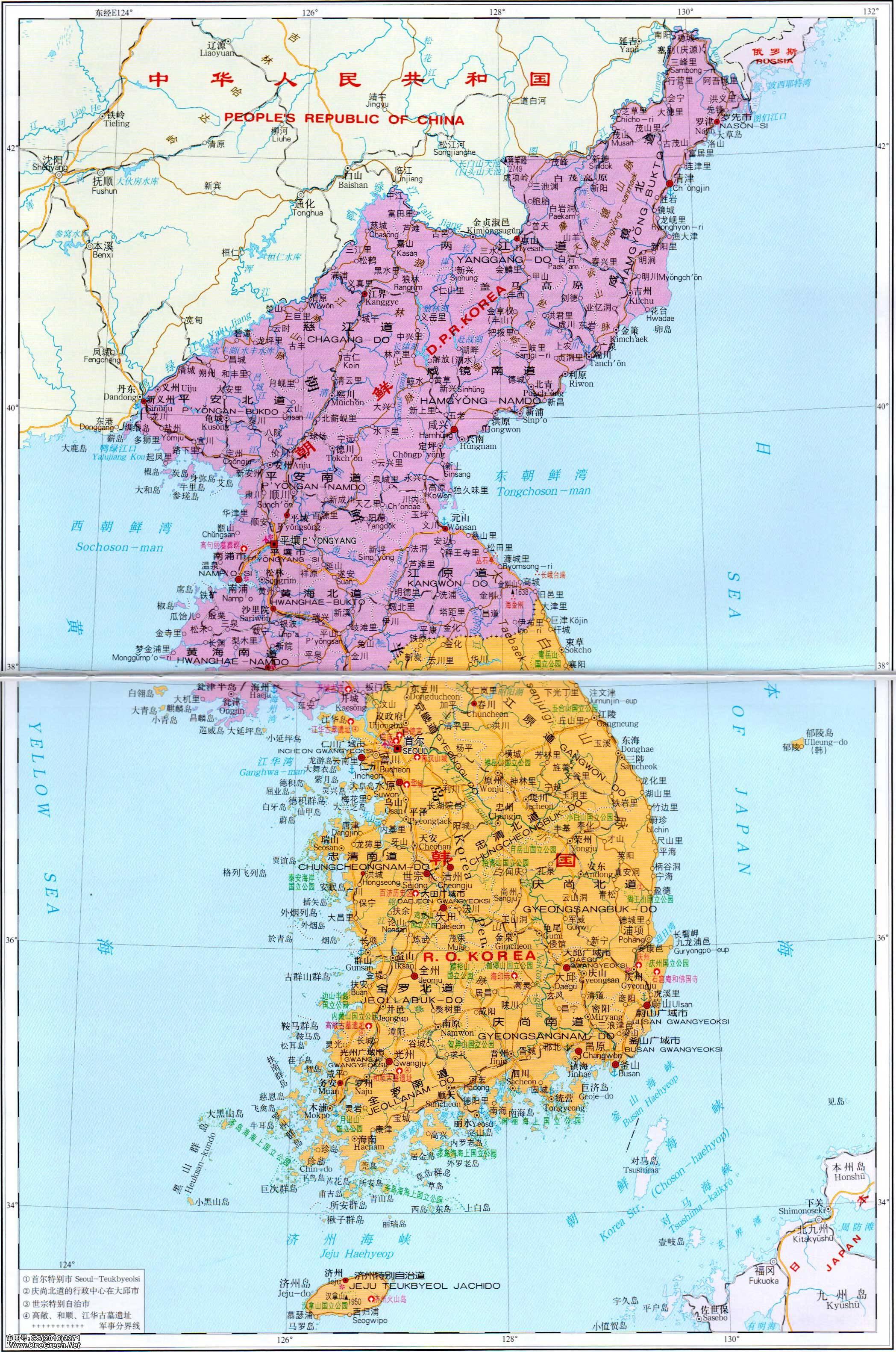 济州岛旅游景点地图_韩国地图中文版图片展示_韩国地图中文版相关图片下载
