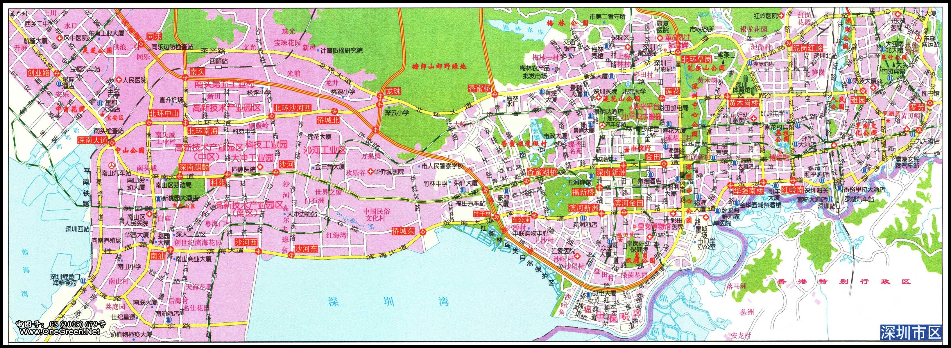 深圳市区地图(西部)