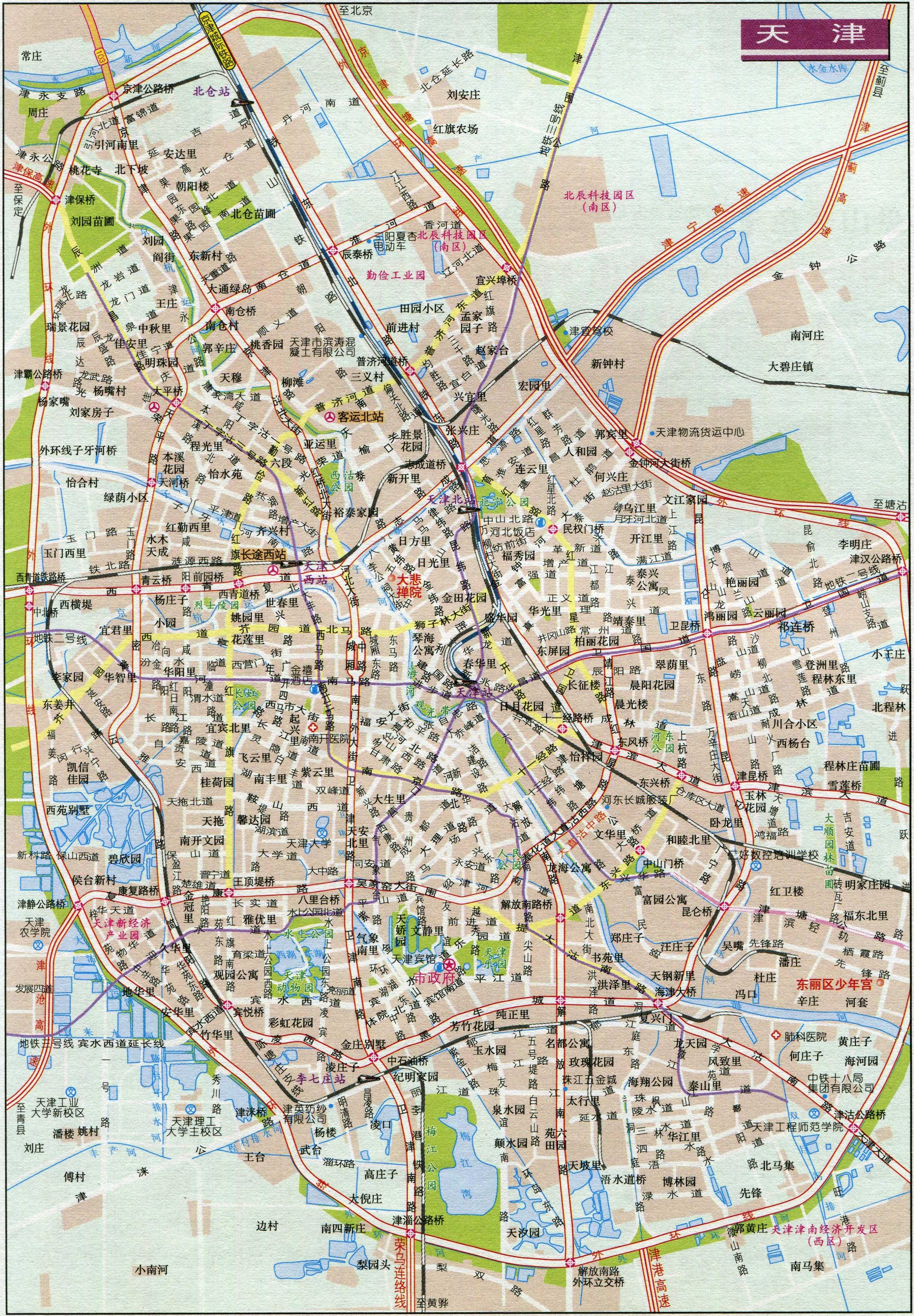 天津市区地图全图高清版 地图窝