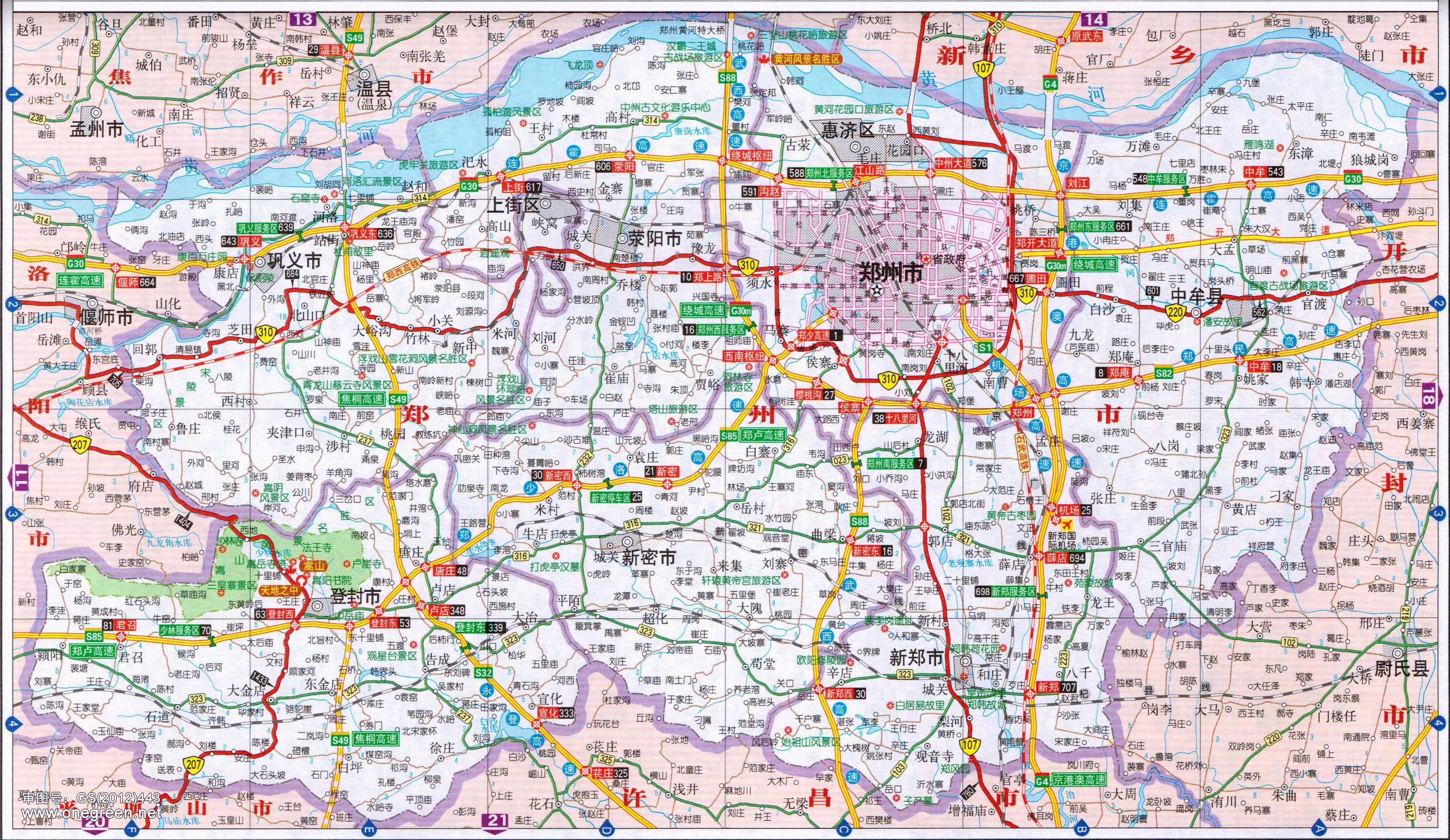 > 郑州地图