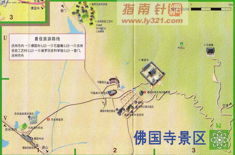 韩国庆州佛国寺景区地图_韩国旅游景点地图查