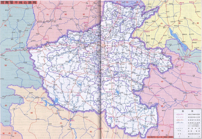 河南公路地图 河南其他旅游景点地图查询高清图片