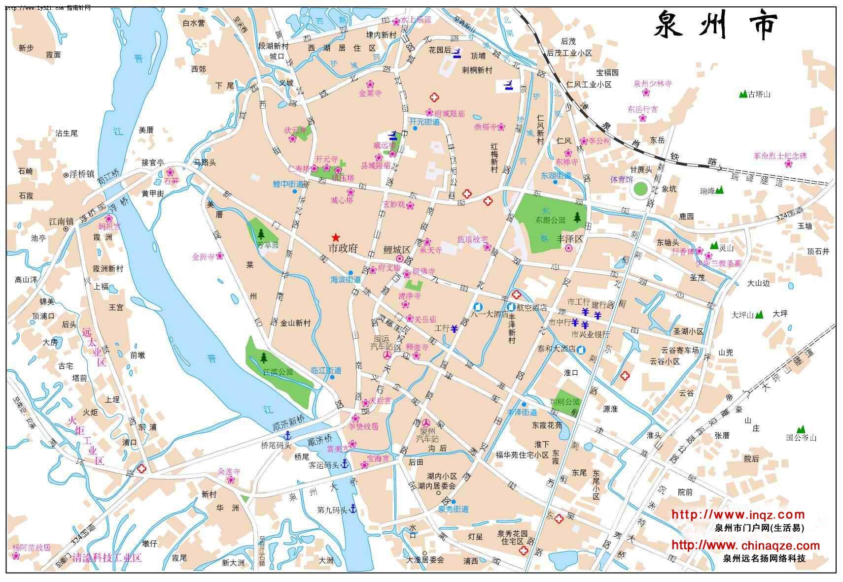 泉州市地图_福建其他旅游景点地图查询