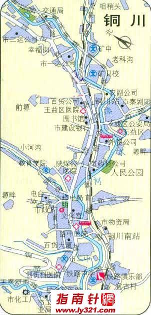 陕西铜川地图_陕西其他旅游景点地图查询