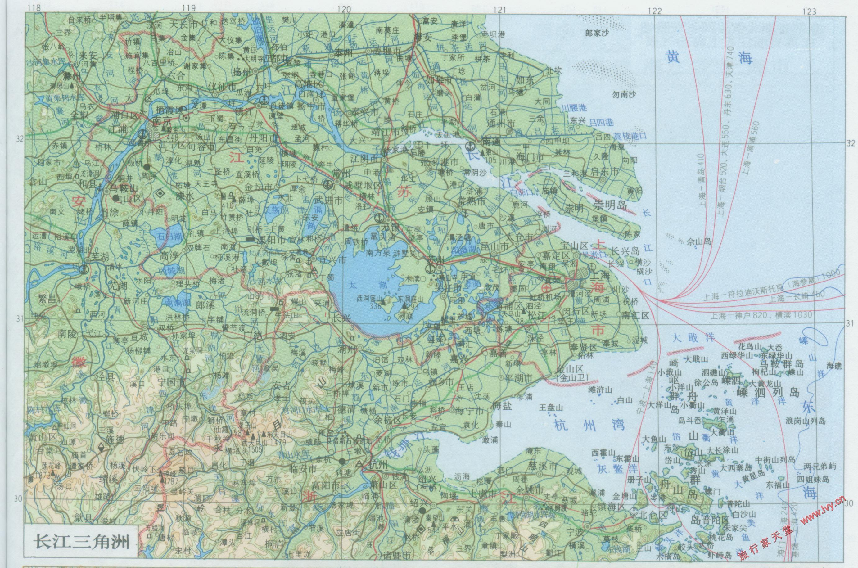 长三角地图_上海地图库