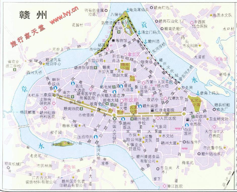 赣州市区地图
