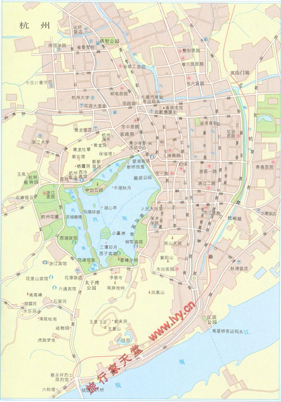 杭州市区地图下载_百度地图杭州市区
