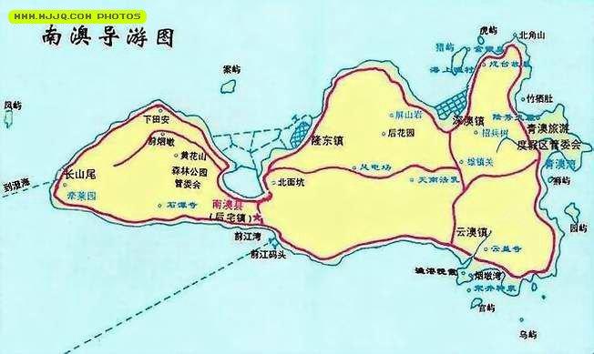 南澳岛地图_南澳岛大桥_澄海南澳岛